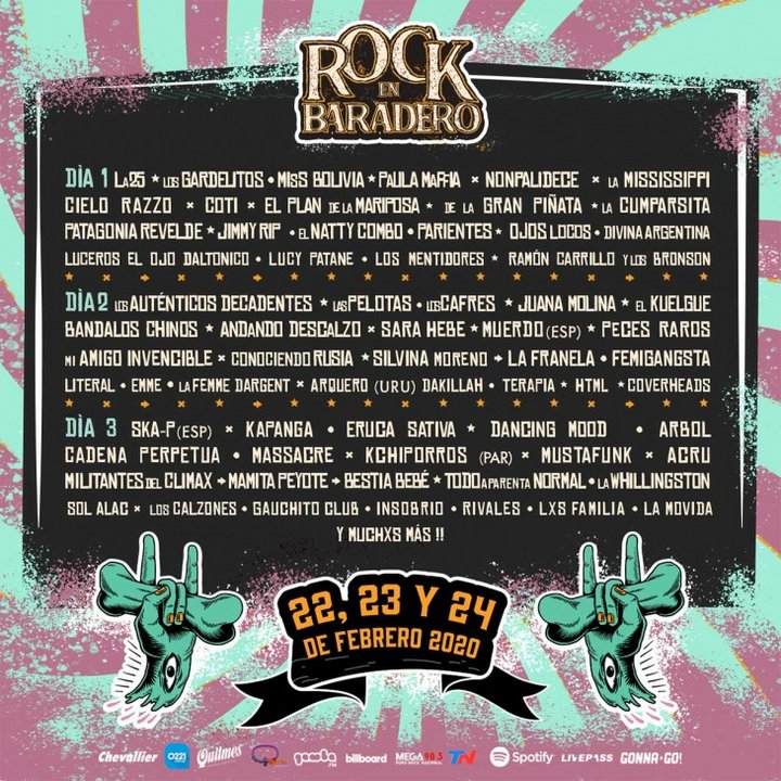 Line-Up Baradero Rock 2020