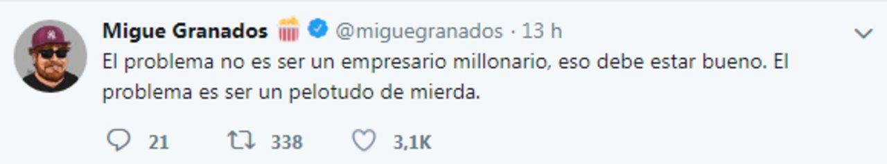 Tweets de @miguegranados