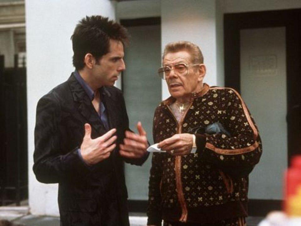 """Ben y su padre compartiendo escena en la recordada película """"Zoolander""""."""