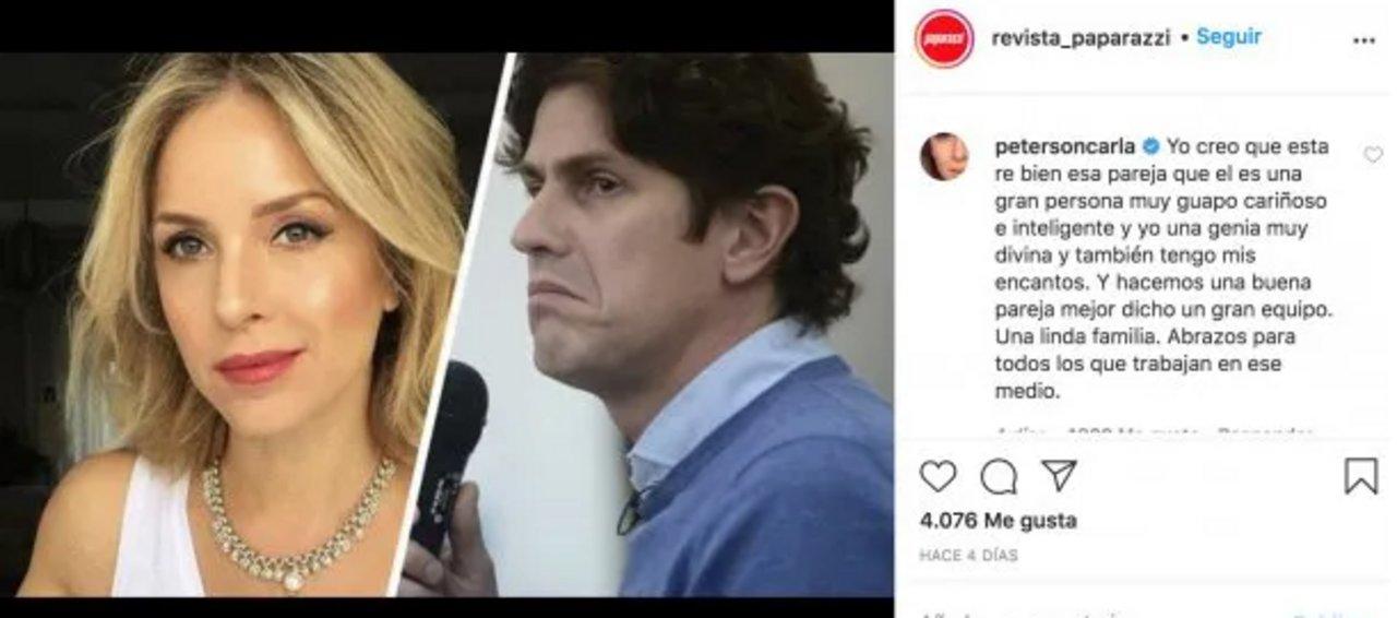 Carla Peterson desmintió su separación de Martín Lousteau