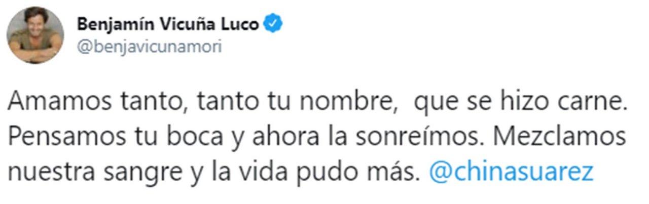 El dulce mensaje del actor para su hijo recién nacido.